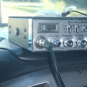 CB radio mounting in cab