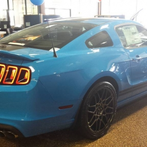 2014 Grabber Blue GT500