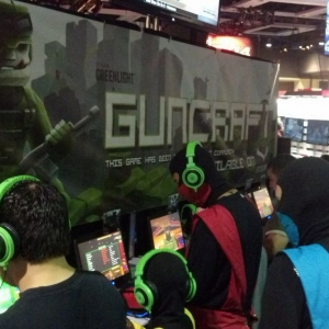 Check out Guncraft. I am working their pax booth right now. If anyone'