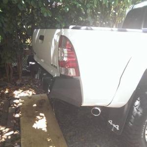 rear bumper install
