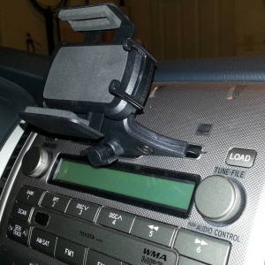 CD slot phone mount