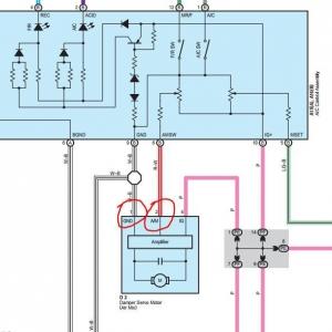 ac wiring to air mix motor
