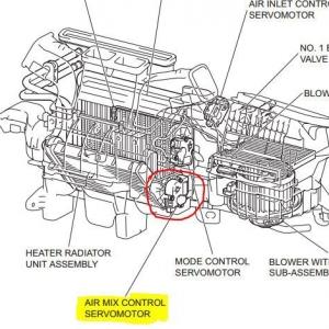 air mix control motor