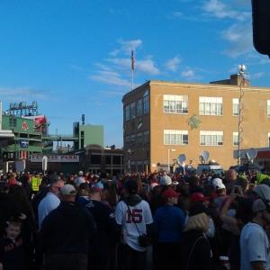 Sox parade day! Great spot!