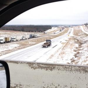 U.S. Hwy 75 north into Oklahoma.