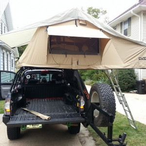 Tent fixed up