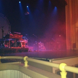 Seated for The Machine, a Pink Floyd tribute band.