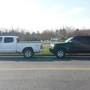 tacomas parked