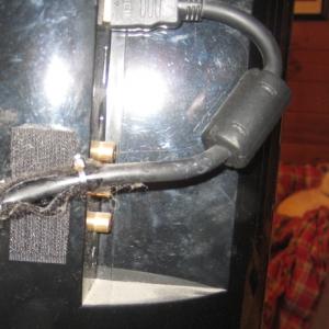 Velcro HDMI cable strap
