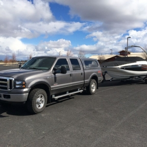 I've been towing boats and RVs to and from a sportsman's show lat
