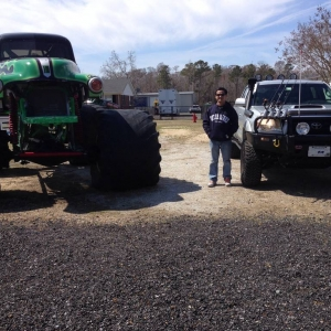 Side by side with Grave Digger.