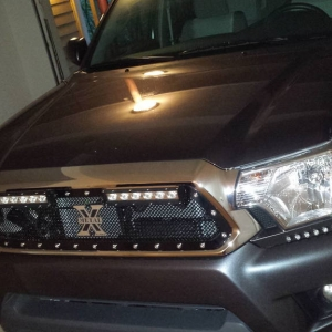New install TRex XMetal grill and lighting