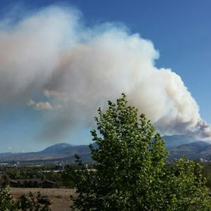 Reno forest fire earlier