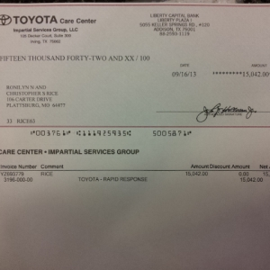 My 2000 Tacoma's BUYBACK due to frame recall