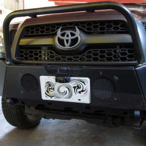 Yada Digital Wireless Backup Camera Mounted on Front Bumper as Trail Cam
