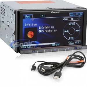 Pioneer AVH-P4100 DVD with IPOD Control Cable