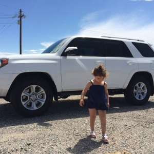 My daughter and my 14 4runner!