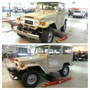 Fully restored 1976 FJ 40 for our showroom