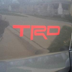 New Vinyl Rear TRD