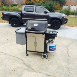 Grilling and the truck before some Halloween stuff