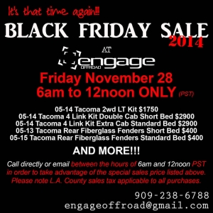 Engage Off Road 2014 Black Friday Sale