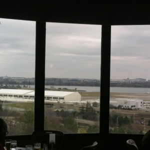 Company holiday party at Ruth's Chris. 11th floor view of Reagan natio