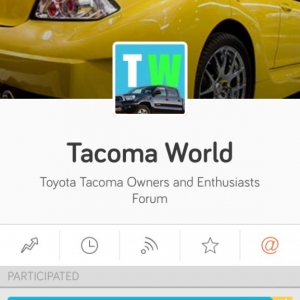 Why is this yellow car the picture for my tacoma world tapatalk?