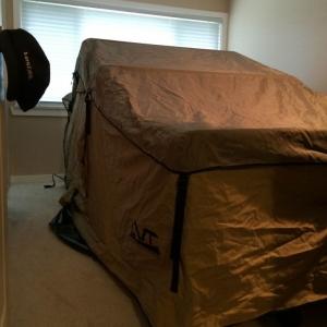 guest room set up.