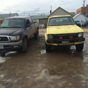 1979 Toyota Pickup 4WD and my 2004 Tacoma DCSB 4WD