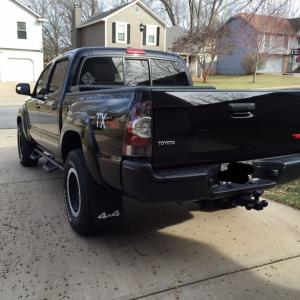 Dipped rear bumper