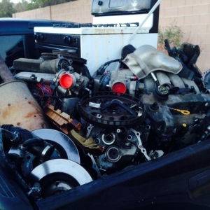 4 motors a stove, 12 pairs of rotors, exhaust, and a bunch of other junk
