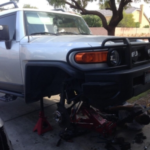 """Current project removing 6"""" lift!"""