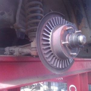 Bumpy brakes. Maybe they can be milled...