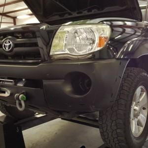 Test fitting US Offroad winch mount bumper 05-11