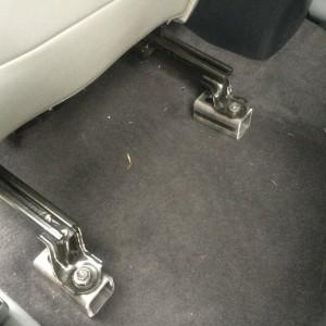 Rear brackets unpainted