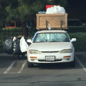 That's one way to live out of your car.