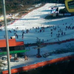 Hit the slopes in Korea. All man made snow haha, but wasn't bad