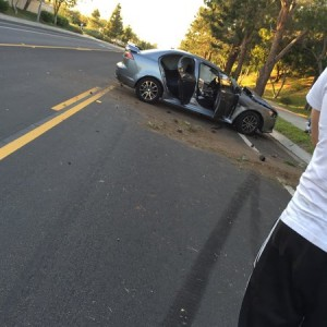 Some kid lost it doing like 80+ around the corner from my buddies house and slammed into a tree.