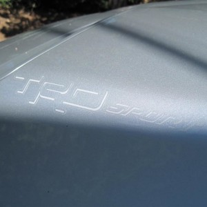 TRD Sport Med Gray Shadow Only Scoop Decal - Light Angle