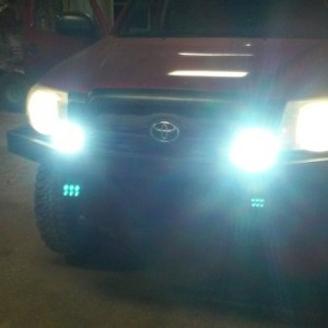 Upgraded the old cheap fogs with some slightly less cheap new fogs. Also thought the ghost bulbs image below the light was kinda cool... And spooky