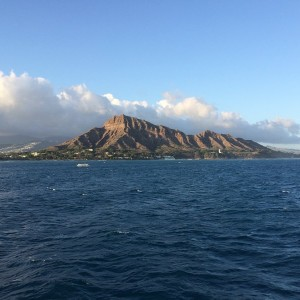 Was out on a cruise tonight. Got a nice picture of Diamond Head.