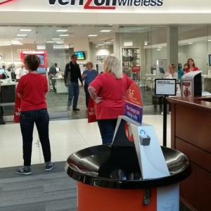 Damn it. My Verizon phone needs looked at and they're on strike!  I hope they pay these people soon. My #firstworld problems are important.  :D
