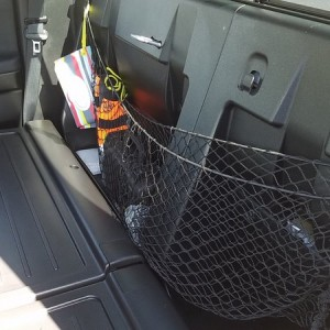 Behind seat cargo hammock. Great for keeping small stuff from rolling around.