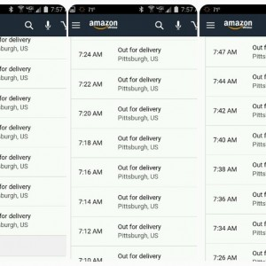 Wonder if what I ordered is out for delivery.  o_O